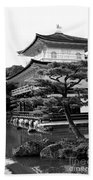 Golden Pagoda In Kyoto Japan Beach Sheet