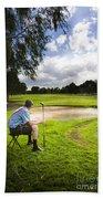 Golf Course Beach Towel