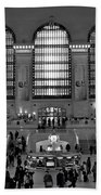 Grand Central Station Bw Beach Towel