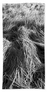 Grass In Black And White Beach Towel