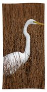 1- Great Egret Beach Towel