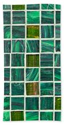 Green Tiles Beach Towel