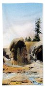 Grotto Geyser Yellowstone Np Beach Towel