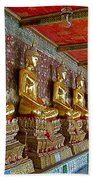 Hall Of Buddhas At Wat Suthat In Bangkok-thailand Beach Towel