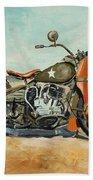 Harley Davidson Wla 1942 Beach Towel