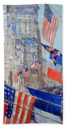 Hassam's Allies Day May 1917 -- The Avenue Of The Allies Beach Towel