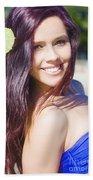 Hawaiian Girl In Hawaii Beach Sheet