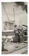 Hine Oyster Fishing, 1911 Beach Towel