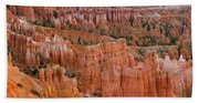 Hoodoo Rock Formations In A Canyon Beach Towel