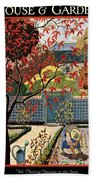 House And Garden Fall Planting Number Cover Beach Sheet