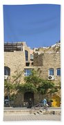 Houses In Jaffa Tel Aviv Israel Beach Towel