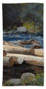 Hudson River Beach Towel by Winslow Homer