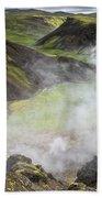 Iceland Steam Valley Beach Towel