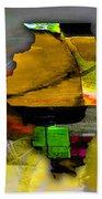 Illinois Map Watercolor Beach Towel