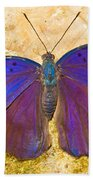Indian Leaf Butterfly Beach Towel