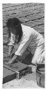 Indians Making Adobe Bricks Beach Towel