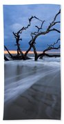 Into The Blue Beach Towel by Debra and Dave Vanderlaan