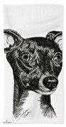 Italian Greyhound Beach Towel