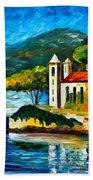 Italy Lake Como Villa Balbianello Beach Towel