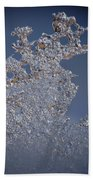 Jammer Fractal Ice 001 Beach Towel