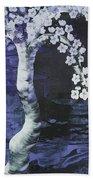 Japanese Cherry Blossom Beach Towel