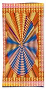 Jewel Panel Colorful Buttons Golden Abstract Signature Art  Navinjoshi Artist Created Images Texture Beach Towel