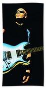 Joe Satriani Painting Beach Sheet