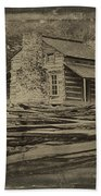John Oliver Cabin In Cades Cove Beach Towel