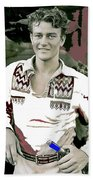 John Wayne In Buckskins The Big Trail 1930-2013 Beach Towel
