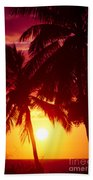 Kamaole Nights Beach Towel