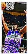 Karl Malone Beach Towel