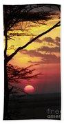 Kenyan Sunset Beach Towel