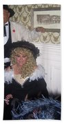 Lady And Gent Homage Celebrants Crystal Palace Saloon Tombstone Arizona 1932-2004 Beach Towel