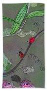 Ladybug Slide Beach Towel
