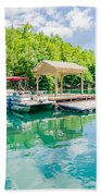 Lake Fontana Boats And Ramp In Great Smoky Mountains Nc Beach Towel