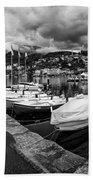 Lake Maggiore Bw Beach Towel