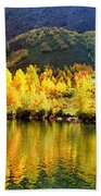 Lake Reflection In Fall  Beach Towel