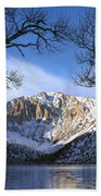 Laurel Mt And Convict Lake Sierra Beach Towel