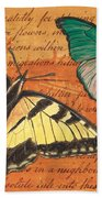 Le Papillon 3 Beach Towel