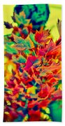Leaves In Abstract Beach Towel