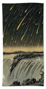 Leonid Meteor Shower Of 1833 Beach Sheet