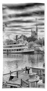 Liberty Square Riverboat Beach Towel by Howard Salmon