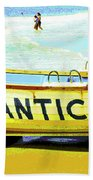Lifeboat Atlantic City New Jersey Beach Towel
