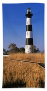 Lighthouse In A Field, Bodie Island Beach Towel
