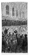 Lincoln Assassination, 1865 Beach Towel