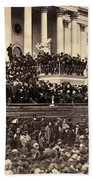 Lincoln's Inauguration, 1865 Beach Towel
