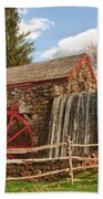 Longfellow's Wayside Inn Grist Mill Beach Towel by Jeff Folger