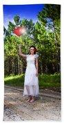 Love Heart Balloons  Beach Towel