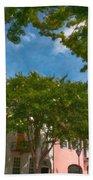 Lowcountry Rainbow Row Beach Towel
