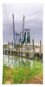 Lowcountry Shrimp Dock Beach Towel